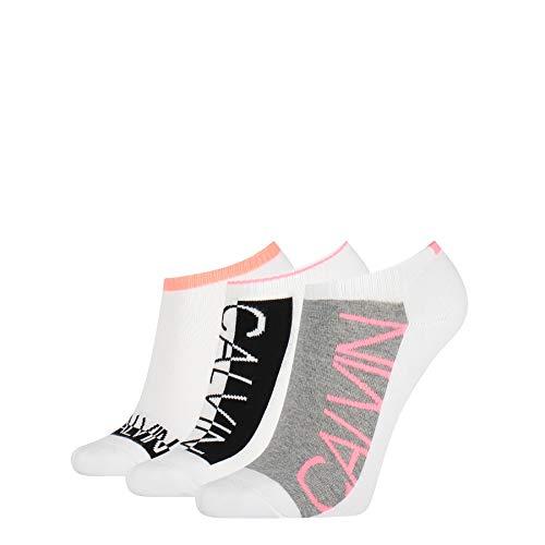 Calvin Klein Socks Womens Jeans Athleisure Women's No Show (3 Pack) Socks, White Combo, ONE Size