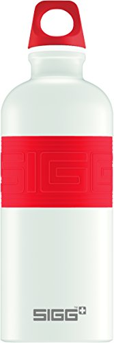 SIGG Color Your Day, 0.6 L, Trinkflasche, weiß/rot