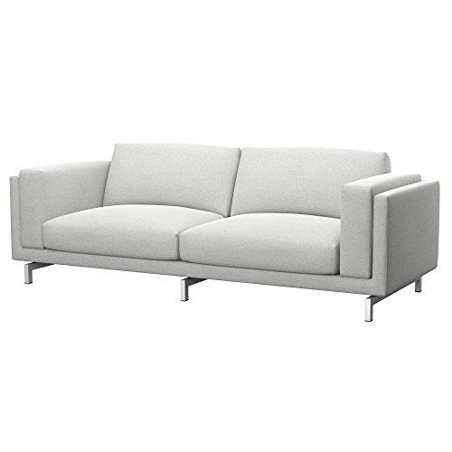 Soferia Funda de Repuesto para IKEA NOCKEBY sofá de 3 plazas, Tela Classic Creme, Off-White
