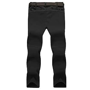 Magcomsen Mens Snow Ski Hiking Pants Waterproof 4 Zipper Pockets Reinforced Knees Fall Winter Work Pants