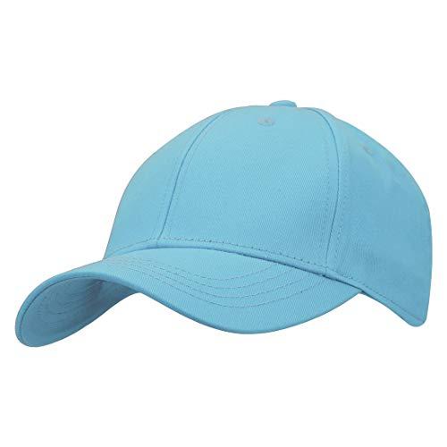 KeepSa Baumwolle Baseball Cap, Basecap Unisex Baseball Kappen, Baseball Mützen für Draussen, Sport oder auf Reisen - Reine Farbe Baseboard Baseballkappe Kappe, Mütze