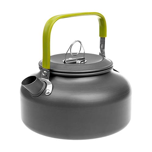 Docooler Camping Kettle - 1.1L & 1.6L Portable Ultra-Light Outdoor Hiking Camping Picnic Water Kettle, Teapot, Coffee Pot - Compact, Quick-Heat & Anti-scalding (0.8L)