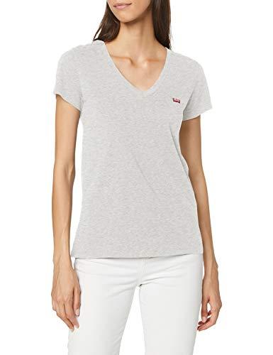Levi's Perfect Vneck T-Shirt, Orbit Heather Gray, X-Small Femme