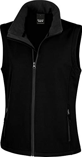 Ergebnis Damen r232F bedruckbar Softshell Bodywarmer, Damen, R232F, schwarz/schwarz, Medium/Size 12