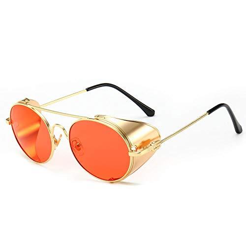 Genrics Gafas de Sol Steampunk Vintage Protector Lateral Hecho a Mano