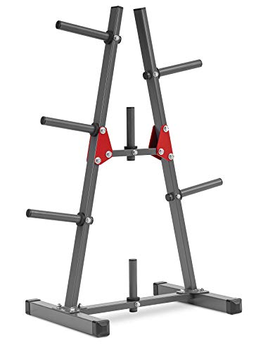 Photo of Hop-Sport 1006A Weight Rack Stand-Durable Weight Storage Rack with load capacity 300kg-Weight Disc Tree with 7 holders-Strong and Solid Weight Holder-Home Gym Accessories