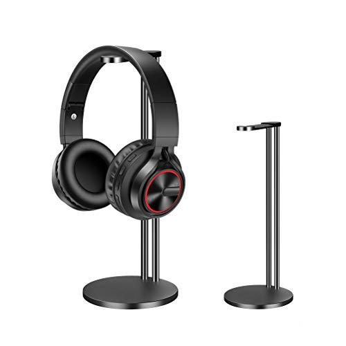 EletecPro Kopfhörer-Halterung, universelle Aluminiumlegierung, Gaming-Headset, Kopfhörer-Halterung, Tisch-Display, Aufhänger für alle Kopfhörer-Größen schwarz