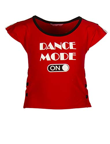 Papillon Sport T-Shirt Tanzmode auf Mädchen rot Größe 128