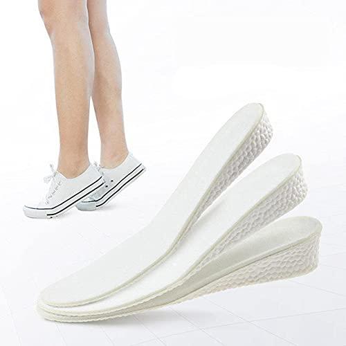 Plantillas de esponja para elevar los zapatos, plantilla invisible para elevar la altura, cojín de elevación de zapatos para hombres y mujeres (2,5 cm, 43-44)
