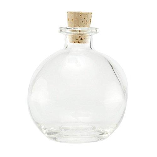 Nakpunar Spherical Clear Glass Bottle, 8.5 Oz. w/Cork (1, Cork)