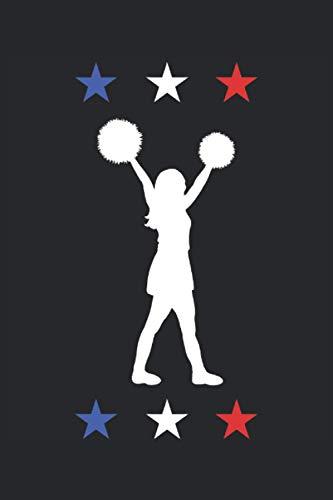 Cheerleader Frankreich Cheerleading Geschenk Notizbuch (Taschenbuch DIN A 5 Format Liniert): Tolle Cheerdance Geschenkidee Notizbuch, Notizheft, ... Squad Geschenk mit Frankreich Fahne Farben.