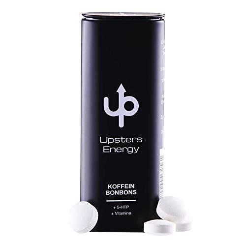 Upsters Energy Koffein Bonbons + 5-HTP + B-Vitamine, 2 Bonbons = 1 Kaffee oder Energydrink, Zuckerfrei, Made in Germany (20)