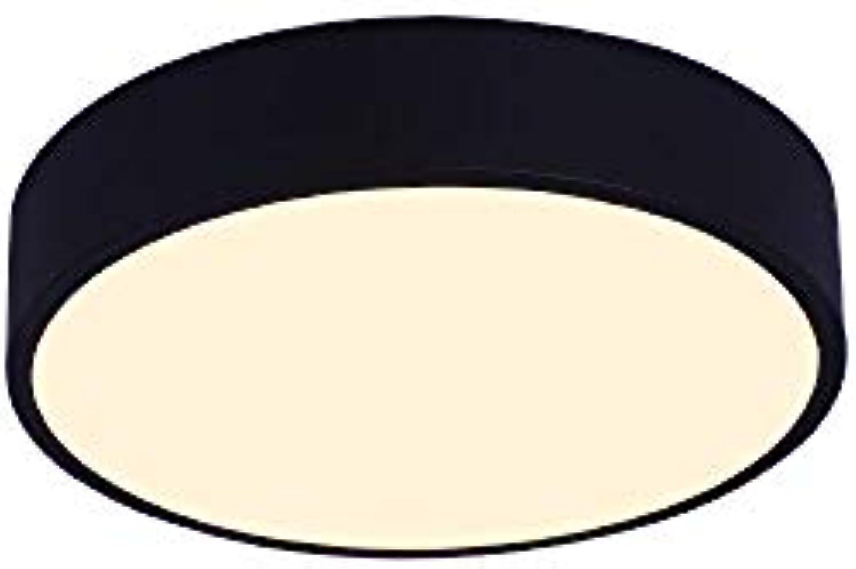Wandun LED Deckenleuchte, Deckenlampen, Decke Licht, Schlafzimmerlicht, Küche, Wohnzimmer, Bad, Balkon Deckenein bauleuchte [Energieeffizienzklasse A +] (Farbe   schwarz Weiß Light, Gre   30  6cm)