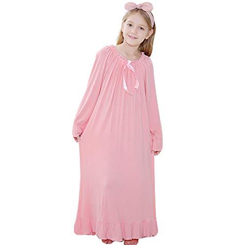 Gaga city Prinzessin Nachthemd für Damen und Mädchen 100% Bequemes Altmodisches Weißes Nachthemd Nachtwäsche Full Length Langärmliges Pyjama Kleid