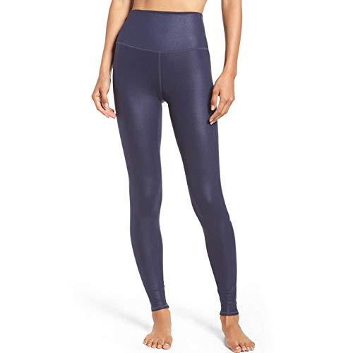 Rtyoo Sportswear-Hosen Für Damen Laufen Schnell Trocknend Kalandrieren Hohe Taille Eng Anliegende Hochelastische Yoga Fitness Damenhose @ Figure_S