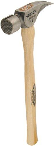Stiletto herramientas INC ti14ms Titan 14-ounce titanio martillo de carpintero con mango recto
