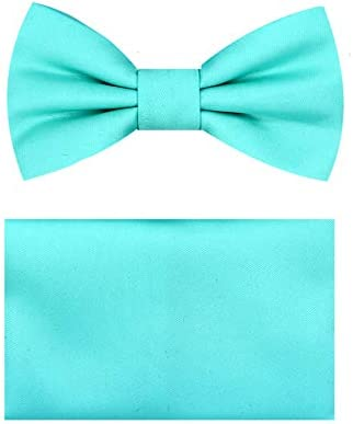 Boys Bow Tie Handkerchief Set Aqua QQ product image