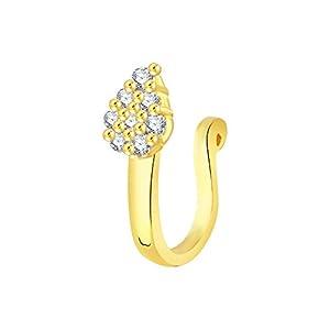V. K. Jewels Nose Ring for Women (Gold)(vknr1028g)