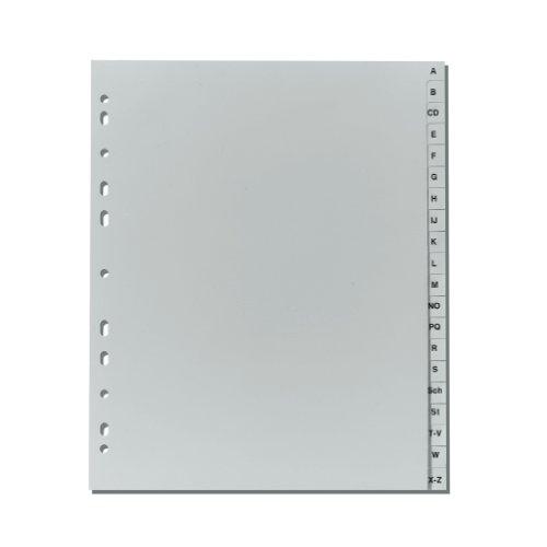 Herlitz 10901718 Register A-Z, 24 x 29,7 cm, Überbreite, PP, Eurolochung