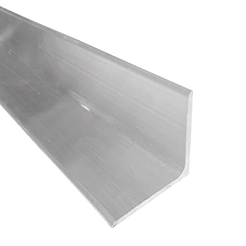 """2"""" x 2"""" Aluminum Angle 6061, 24"""" Length, T6511 Mill Stock, 1/8"""" Thick"""