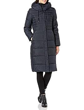 Fleet Street Ltd Women s Long Maxi Down Coat Navy Medium