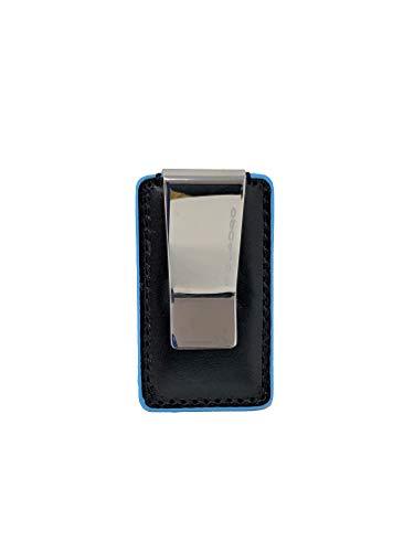 Fermasoldi Piquadro linea Blue Square Colore Blu - Mogano - Nero PP4857B2 (NERO)
