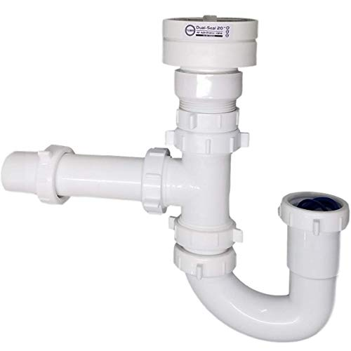 Air Admittance Valve Trap Assembly Kit with 1-1/2 inch Tuuber Vent 2x Superior Seal Air Admittance Valve