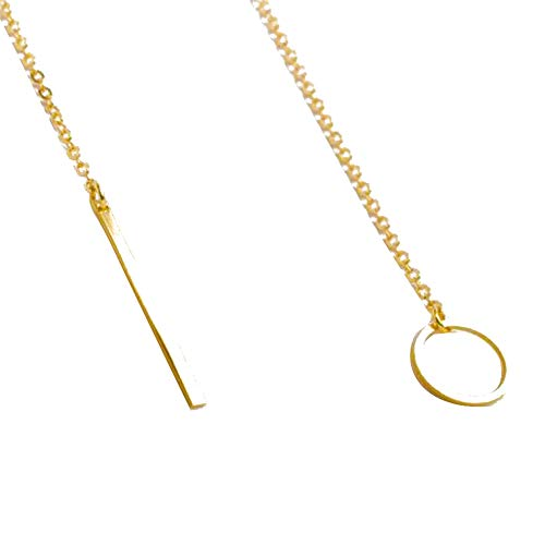Women's Necklace Chic Y Shaped Pendant, Personalized Alloy Choker Necklace Charm Elegant Party Jewelry Valentines Day Anniversary Birthday Gift Holiday Present for Women Girls Her (Gold)