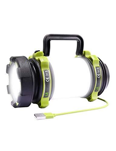 LE LED ランタン 懐中電灯 サーチライト CREE社製高輝度チップ搭載 USB充電式 一台三役 6つ点灯モード 無段階調光 防滴 キャンプ 登山 釣り 防災 停電 緊急 非常用