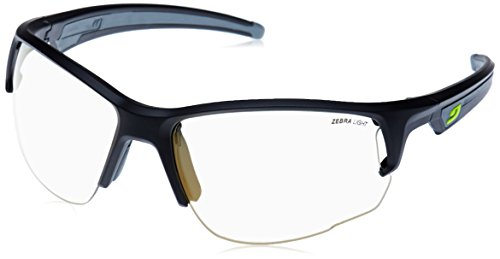 Julbo Venturi Zebra Light Sonnenbrille photochromiques Herren, Schwarz Matt/Grau