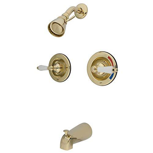 Kingston Brass GKB662PL - Grifo para bañera y ducha (latón pulido)