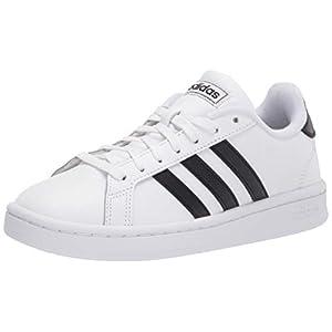 adidas mens Grand Court Sneaker, White/Black/White, 10 US