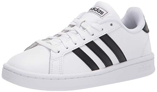 adidas mens Grand Court Sneaker, White/Black/White, 9 US