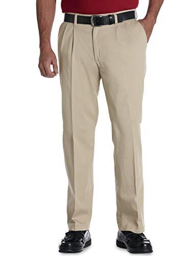 Lee Pantalon plissé pour homme - Taille confortable - Beige - XX-Large