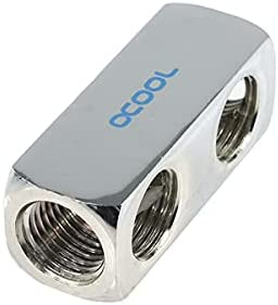 Alphacool 17026 HF Connection Terminal 5-Way G1/4'' Inner Thread - Chrome Water Cooling Fittings