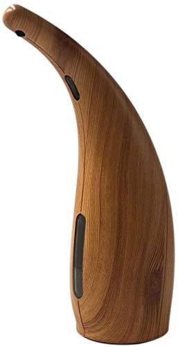 Yvelife Dispensador de jabón automático Touchless Dispensador de jabón Impermeable para Fregadero de baño de Cocina-Madera