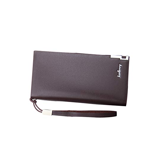20x11cm Long Tape Geldbörsen für Männer Multifunktions Reißverschluss Handtasche Kartenhalter (Kaffee)
