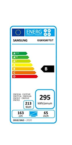 Samsung QLED 4K Q80T 163 cm (65 Zoll) (Quantum Prozessor 4K, Direct Full Array, Quantum HDR 1500) [Modelljahr 2020]
