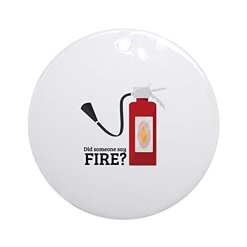 EaYanery Fire Alarm Ornament (Round) Round Holiday Christmas Ornament Xmas Gifts Christmas Tree Ornaments Ideas 2019