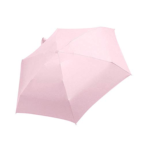 Mini Pocket Umbrella, Folding Parasol, Vrouwen Travel Flat Lichtgewicht Paraplu, UV-Bescherming Parasol Opvouwbare Paraplu Voor Outdoor,Pink