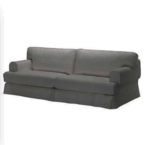 Ersatzbezug für IKEA Hovesitzer Dreisitzer Sofa, 100% Baumwolle Sofabezug für Hovesitzer Sofa grau