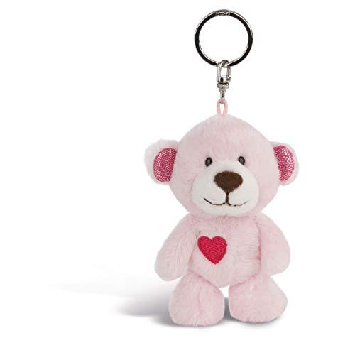 NICI Schlüsselanhänger Love Bär Mädchen 10 cm – Teddybär Kuscheltieranhänger mit Schlüsselring für Schlüsselband, Schlüsselbund, Schlüsselhalter & Schlüsselkette – Taschenanhänger – 44420