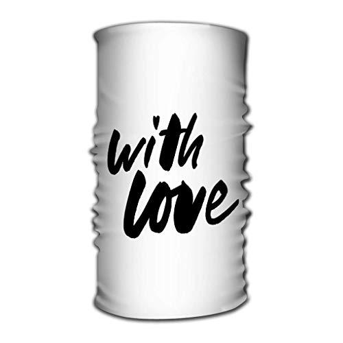 Quintion Robeson Stirnband Bandana Vielseitige Sportkopfbedeckung, Radfahren Love Slogan Zerrissenes Papier Valentinstag Slogan Top Love Slogan Zerrissenes Papier Valentinstag