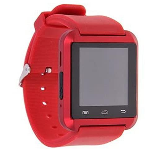 QiKun-Home U8 Smart Watch Altitud Altitud Detección de presión de Aire Fitness Deportes Paso Alarma antirrobo Llamada Reloj Inteligente Regalo Creativo Rojo