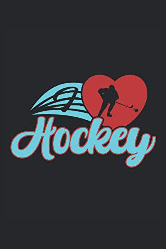 Notebook: ice hockey, hockey, puck, hockey stick: 120 lined pages - notebook, sketchbook, diary, to-do list, drawing book, for planning, organizing and taking notes.