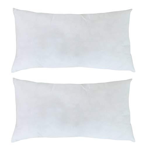 Mack - Basic Kissen Set mit Mircofaserfüllung | Mircofaserkissen für einen erholsamen Schlaf | 40x80 cm - 2er Set