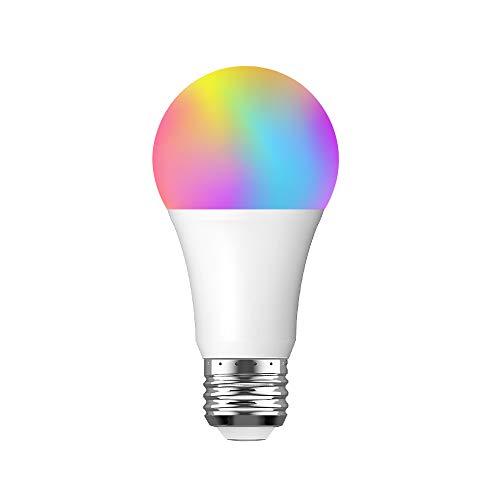 Bombilla LED E27 Inteligente WiFi, BLUYA 10W, Luces Cálidas