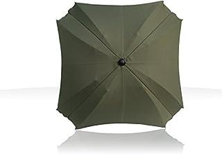 Sombrilla para carritos, con brazo de fijación flexible, con protección UV, 68 cm de diámetro verde oliva