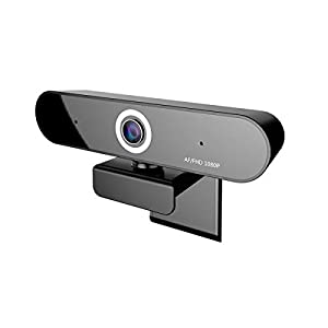 Full 1080P Webcam, Auto Focus Computer Camera, Face Cam with Dual Microphone for PC, Laptops and Desktop,90 Degrees Extended View