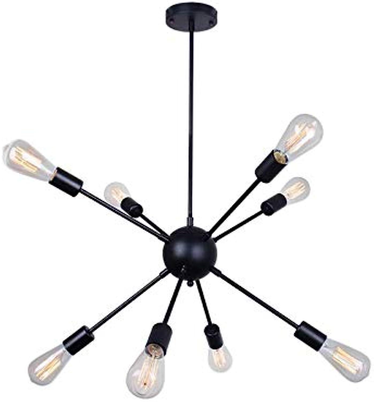 Sputnik Chandelier Bronze Ceiling Light Fixture Flush Mount Vintage Industrial Pendant Lights,220-240v Bulb nicht enthalten,8Head
